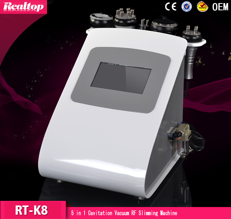 New Promotion 5 In 1 Ultrasonic Cavitation Vacuum Radio Frequency Lipo Laser Slimming Machine for Spa
