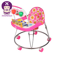 Simple Steel Pipe Frame Old Style Big Wheel Baby Walker For Tall Baby