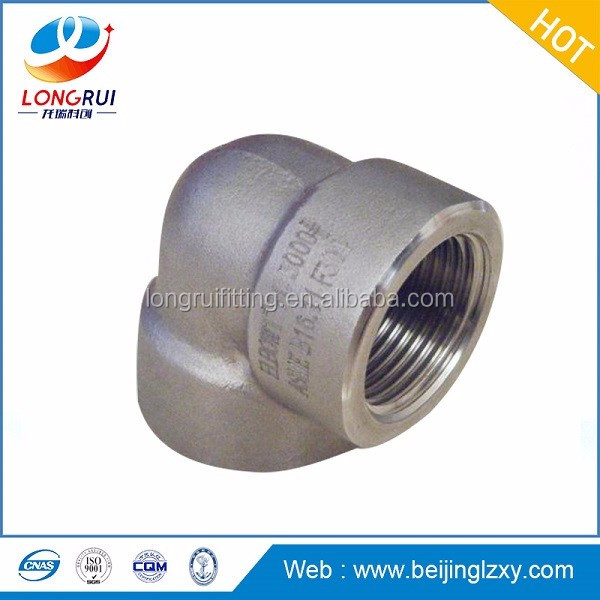 A105 Socket-Welding Fittings and Forged Threaded Fittings elbow/tee/reducer /cap/union/plug/nipple 3000LB/6000LB/9000LB