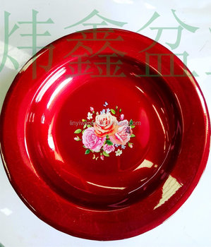 metal enamel spray-paint dish with different pattern