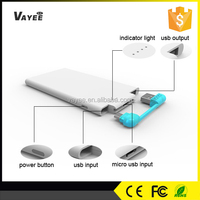3000mah super slim ultra thin power bank wallet with CE FCC RoHS