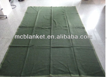 Olive green army blanket