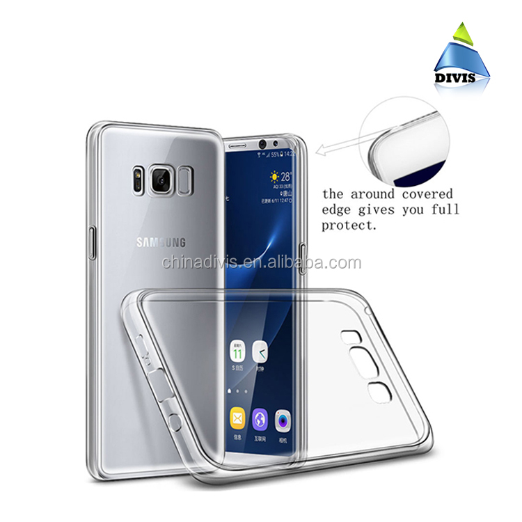 Free sample mobile phone accessories TPU phone case back cover custom for Samsung Galaxy S8