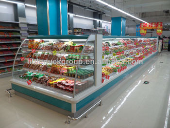 Refrigeration showcase /Supermarket Showcase/display case/-ORLANDO