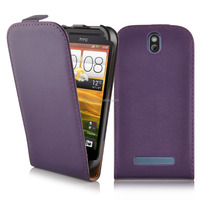 High Quality Commercial Flip Genuine Leather Phone Case Cover For HTC One SV