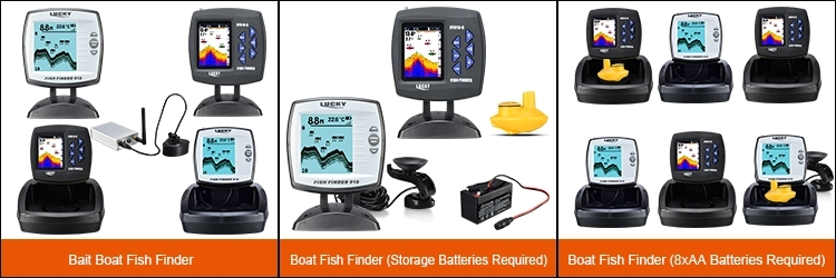 Lucky portable sonar fish finder FF1108-1 for fishing