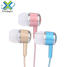 2017 Fashion colorful Metal headphones for iphone earphone headphone