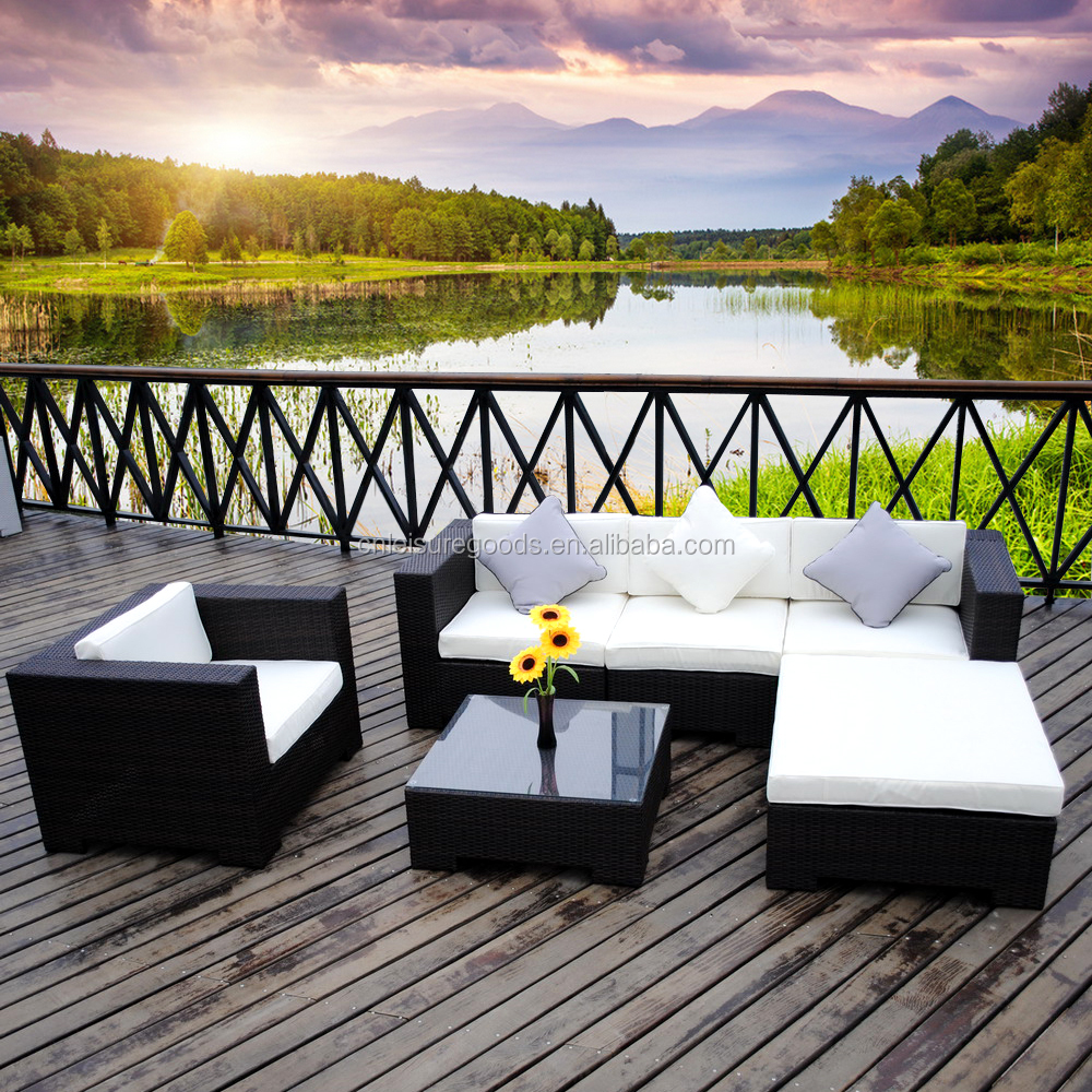 Outdoor aluminium wicker sofa set rattan furniture