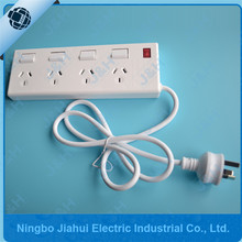 Australia standard 4 outlet power board individual switched with cable JH-04