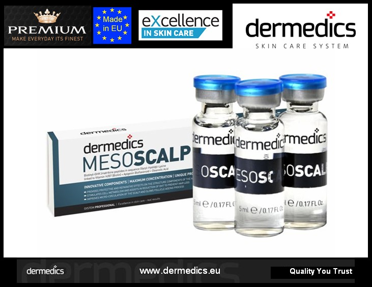 dermedics MESO HAIR Intensive Hair Therapy against alopecia needle-free mesotherapy ampoules with Procapil