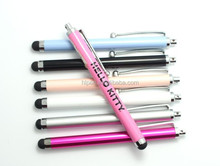 Multi-color popular touch pen and cheaper multi-function stylus ball pen
