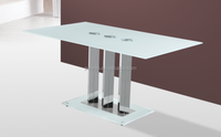 Glass Material and Dining Room Furniture Type eat desk and chair