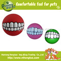 dog squeeky teeth ball toys
