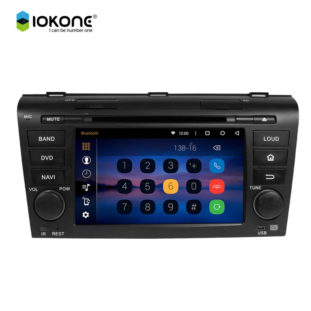 auto spare parts car android 6.0 car dvd radio player with gps navigation wifi reversing camera for MAZDA old 3 2004-2009