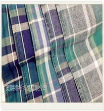 grid 100%cotton popular cheap england scotland denim fabric