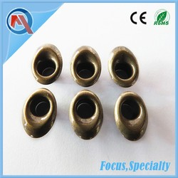 14mm Oval Metal Garment Brass Eyelets For Shoes