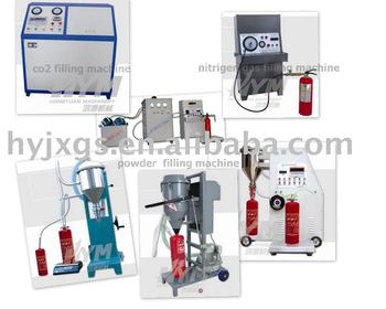 Fire extinguisher powder filling machine