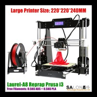 2016 New Arrival Reprap Prusa i3 3D Printer DIY Kit 2 Roll Filament 8GB SD Card Free