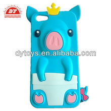 factory supply custom 3D pig silicone phone case