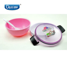 Colorful round airtight food container plastic