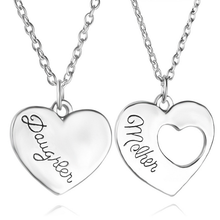 Silver chain jewelry best gift for mom heart pendant necklace