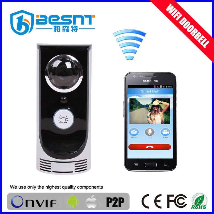 real-time vedio / adudio chat two way speaker motion detection PIR 720p doorbell hidden camera wifi motion detection BS-M06W