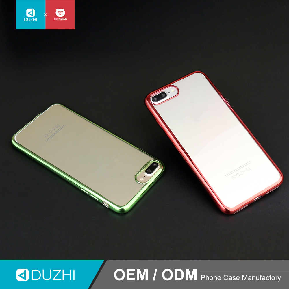 Newest design ultra thin electroplated transparent TPU cell phone cover, customized any model available