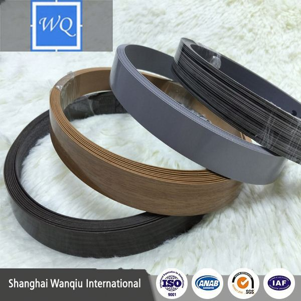 Customized design 21mm x 1.0mm kitchen cabinet pvc edging strip for Particle board,MDF and Plywood