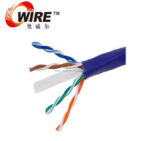 OWIRE 1000-Feet 23AWG Cat6 250MHz UTP Solid Riser Rated, CMR Bulk Ethernet Bare Copper Cable