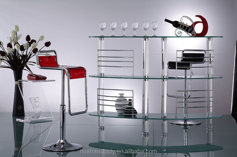 Elegant acrylic long curved bar table