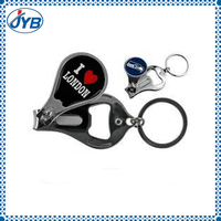 unique nail clipper keychain with custom beer bottle opener function