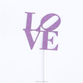 Shiny LOVE wedding party cake topper decoration for party supplies