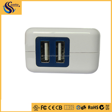 Directly factory android tablet wall charger,universal usb mini folding cube travel charger adapter