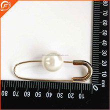 lady clothing use light gold pearl brooch pearls safety pin