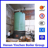 High temperature vertical tube hand feeding working simple vertical thermal oil boilers