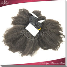 5A afro textured hair extensions100% Virgin Mongolian afro curl hair weaving
