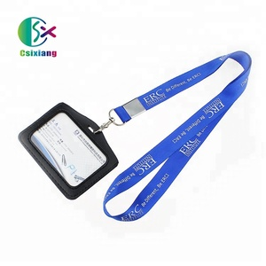 Hot Top High Quality New Fashion Cheap Simple Printed Id Badge Holder Lanyard Nylon Custom Logo