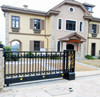 alibaba good price half automatic wrought iron sliding gate for sale