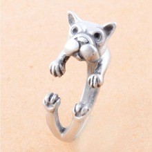 Fashion Alloy Animal Shape Cuff Rings Lovely Dog Nail Ring Jewelry