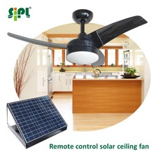 Energy efficient 42 inches three fan blades forward and reversible running modes solar bldc ceiling fan non electric fan