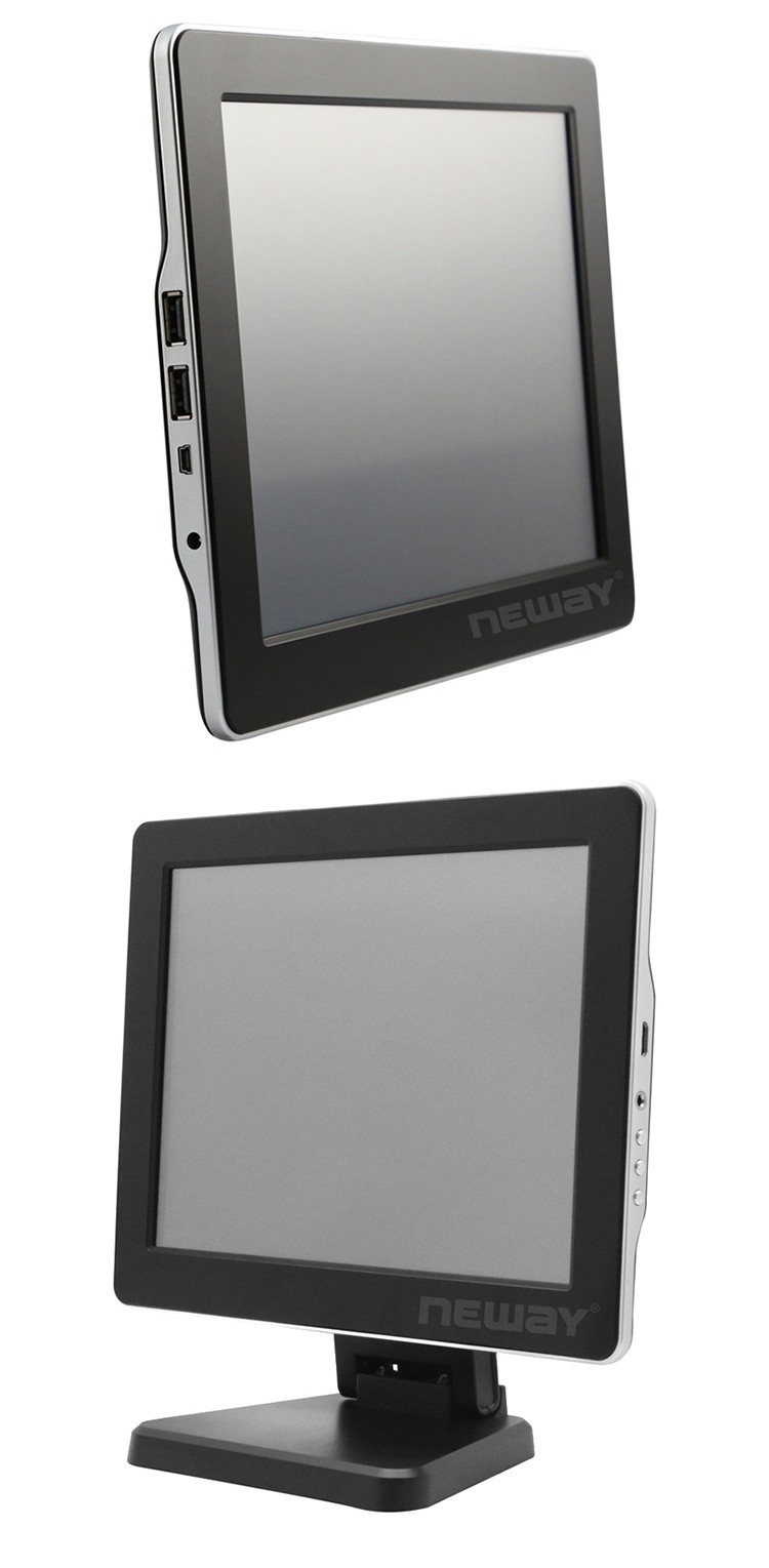 IPS External Monitor Commercial 9 Inch Thin USB LCD Touch Screen