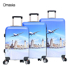 2017 newest design 20 24 28 inch 4 spinner wheels custom abs printed hard shell trolley luggage
