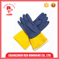 Double Color Light Duty Industrial Latex Rubber Hand Gloves