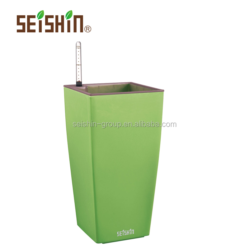 Eco-friendly PP Plastic Type Self-watering Home Goods Flower Pots