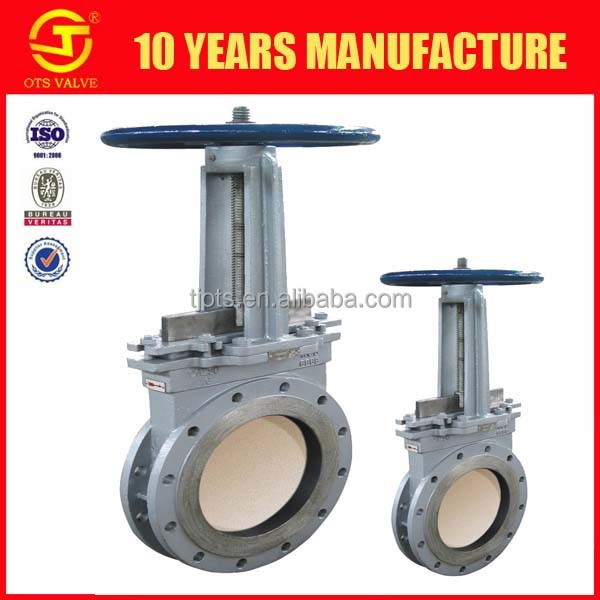 8 inch water knife gate valve SS304 SS306 cast iron normal temperature