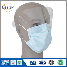 China Supplier Face Mask With Plastic Eye Shield For Food Service