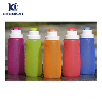 350ml Sport Bottle Amazon Hot Sell Silicone Outdoor Sport Water Bottle