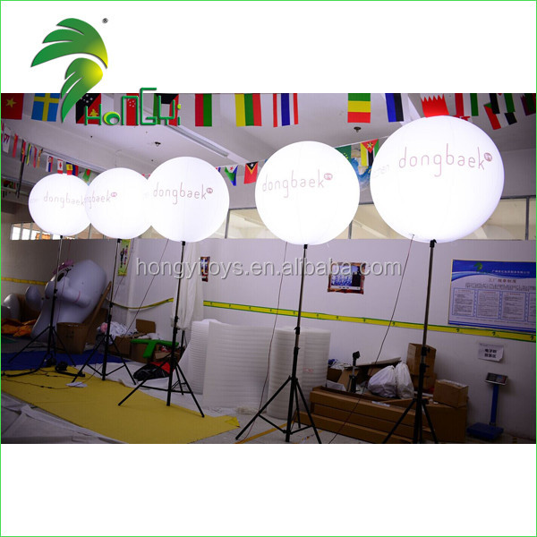 Popular 1.5M Inflating Tripod Balloons , Standing Inflatable Halogen Lamp Balloon For Sale
