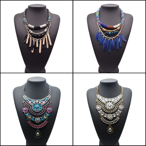 high quality new brand Z fashion jewelry vintage overstate punk crystal necklaces & pendants Alloy statement necklace SKA7969