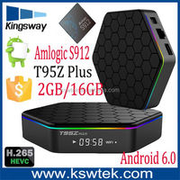 4K Amlogic S912 Octa Core 2GB 16GB DUAL WIFI 2.4G 5.8G Bluetooth 4.0 Android 6.0 Smart TV set top box t95z PLUS